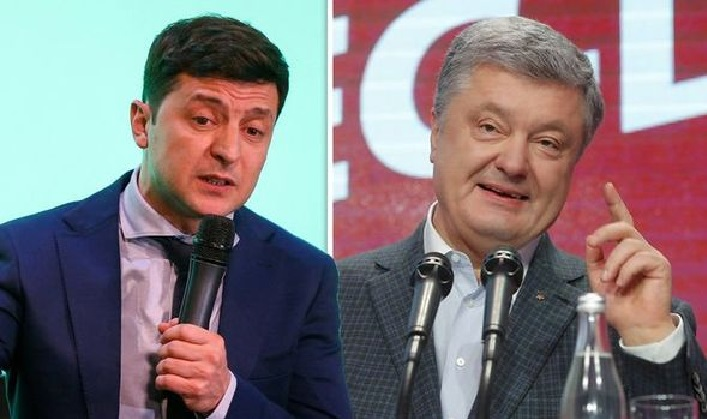 Voters choose between   Petro Poroshenko and Volodymyr Zelensky